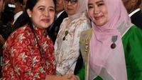 Menko Pembangunan Manusia dan Kebudayaan Puan Maharani dan Ketua Tim Penggerak PKK NTB, Erica Zainul Majdi. (Istimewa)