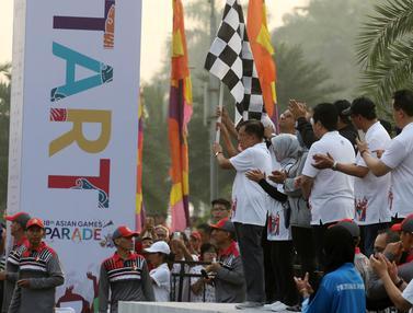 Wakil Presiden Jusuf Kalla Lepas Parade Asian Games 2018