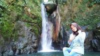 yuk manfaatkan libur lebaran anda dengan berkunjung ke wisata air terjun serambu alla di Kabupaten Lutra (Liputan6.com/ Eka Hakim)
