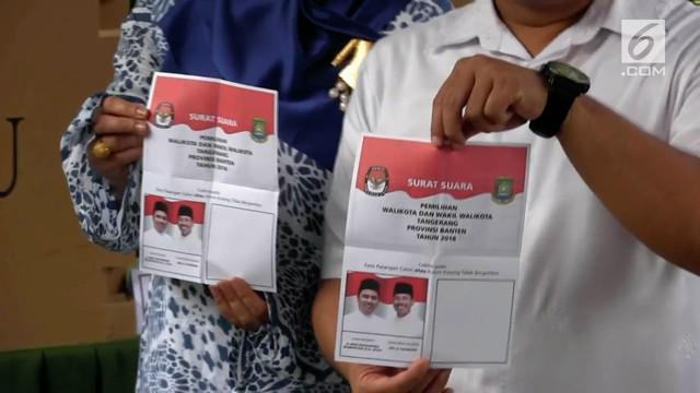 Pilkada Kota Tangerang hanya diikuti 1 pasang calon. Ternyata ada 4 TPS di Tangerang yang dimenangkan oleh kotak kosong.