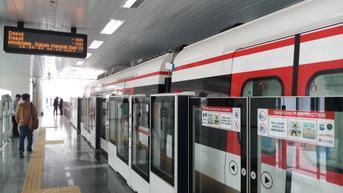 Kereta LRT yang Kecelakaan di Jakarta Timur Sedang Uji Coba