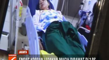 Satu orang korban masih menunggu keputusan dokter dan satu korban lagi harus menjalani rawat inap karena gangguan pada pendengarannya akibat suara ledakan.