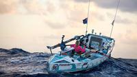 Michelle Lee, seorang wanita Australia yang melakukan perjalanan mengitari samudera dengan perahu dayung (AFP)