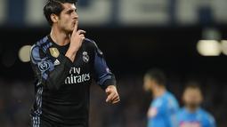 1. Alvaro Morata - Mengawali karier profesional bersama Real Madrid Castilla hingga 2013. Di tahun yang sama ia mampu menembus skuad senior El Real. (AFP/Filippo Monteforte)