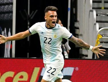 Lautaro Martinez Hattrick, Argentina Libas Meksiko 4-0