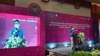 Menparekraf Sandiaga Uno Prediksi Wisawatan Di Banten Meningkat Saat Libur Idul Fitr. (Selasa, 6/4/2021). (Liputan6.com/Yandhi Deslatama).