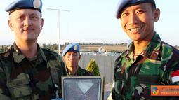 Citizen6, Lebanon: Komandan Indobatt, Letkol Inf Hendy Antariksa menerima kunjungan Farewell Visit Chief of G5 Sektor Timur Unifil, Lt. Col Jadranko Jukic, Rabu (6/7). (Pengirim: Badarudin Bakri)