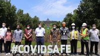 Menteri Koordinator Bidang Kemaritiman dan Investasi Luhut Binsar Pandjaitan melakukan kunjungan ke Kawasan Candi Borobudur (dok: humas)