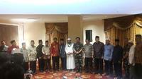 Sinergitas TNI, Polri dan Ulama Wujudkan Pilkada Damai di Sumatera Utara (Liputan6.com/Nafisyul Qodar)