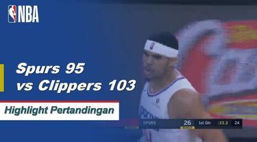 Tobias Harris skor 27 sebagai Clippers mendapatkan kemenangan atas Spurs 103-95.