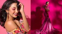 Gaya Pemotretan Kirana Larasati Dengan Tema Pink. (Sumber: Instagram/riomotret)