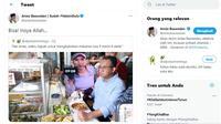 Tangkapan layar Gubernur DKI Jakarta Anies Baswedan merespons meme gambar dirinya di Twitter. (Istimewa)