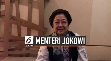 Presiden ke-5 RI Megawati Soekarnoputri meminta semua pihak menahan diri soal pengumuman kabinet jokowi-Ma'ruf. Ia uga menjelaskan soal jatah menteri yang diminta kepada Presiden Jokowi.