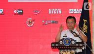 Dirjen Imigrasi Kemenkumham, Ronny F. Sompie memberikan sambutan pada acara Legal Expo di Plaza Semanggi, Jakarta, Kamis (24/10/2019). Legal Expo menghadirkan 35 both yg terdiri dari 15 kementerian lembaga, 11 unit utama kemenkumham dan 10 non kementerian lembaga. (Liputan6.com/Fery Pradolo)
