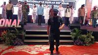 Kepala BNPT Komisaris Jenderal Boy Rafli Amar dalam acara deklarasi kesiapsiagaan penanggulangan terorisme di Kota Batu pada Selasa, 27 Oktober 2020 (Liputan6.com/Zainul Arifin)