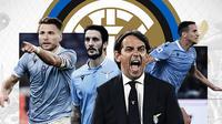 Simone Inzaghi, Ciro Immobile, Luis Alberto dan Luiz Felipe. (Bola.com/Dody Iryawan)