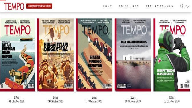Gambar Tangkapan Layar Foto Sampul Majalah Tempo