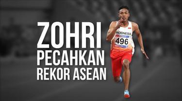 Sprinter andalan Indonesia, Lalu Muhammad Zohri kembali menorehkan prestasi dengan meraih medali perak nomor 100 meter pada Kejuaraan Atletik Asia 2019.