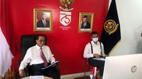 Menteri Perhubungan Budi Karya Sumadi mengadakan pertemuan secara virtual dengan Menteri Transportasi Singapura, Ong Ye Kung. (Foto: Kemenhub)