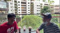 Kebersamaan Bayu Gatra dan Fandi Eko Utomo (tangkapan kamera Youtube Bayu Gatra)
