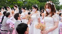 Alibaba Gelar Pernikahan Massal untuk 102 Pasangan di Tengah Pandemi Corona.
