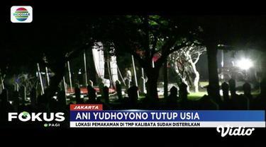 Taman Makam Pahlawan Kalibata disterilkan sejak Sabtu (1/6) malam sebelum pemakaman almarhum Ani Yudhoyono.