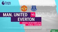 Premier League 2018-2019 Manchester United Vs Everton (Bola.com/Adreanus Titus)