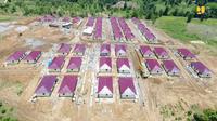 Kementerian PUPR tengah membangun rumah khusus (rusus) bagi warga di kawasan perbatasan di Kabupaten Belu, NTT. Dok PUPR