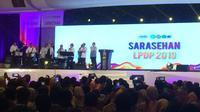 Group musik yang berisikan Menteri Kabinet Kerja atau yang biasa disebut Elek Yo Band tampil dalam acara  temu alumni dan awardee LPDP lintas angkatan.