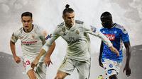 Ilustrasi - Sergio Reguilon, Gareth Bale, Kalidou Koulibaly (Bola.com/Adreanus Titus)