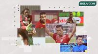 Bek terbaik Liga Indonesia: Bio Paulin, Otavio Dutra, Ismed Sofyan, Yustinus Pae dan Hamka Hamzah. (Bola.com/Dody Iryawan)
