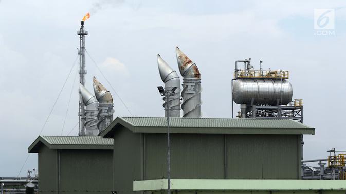 Suasana Sungai Kenawang Gas Plant di desa Kali Berau, Kabupaten Musi Banyuasin, Sumatera Selatan, Sabtu (9/2). Alih kelola 100 persen Wilayah Kerja Jambi Merang oleh PHE dari JOB Pertamina- Talisman Jambi Merang. (Liputan6.com/Helmi Fithriansyah)#source%3Dgooglier%2Ecom#https%3A%2F%2Fgooglier%2Ecom%2Fpage%2F%2F10000