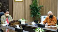 Menteri Koordinator Bidang Perekonomian Airlangga Hartarto, menerima audiensi Ikatan Pedagang Pasar Indonesia (IKAPPI) secara virtual, pada Selasa (21/09). Dok Kemenkoperekonomian