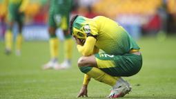 The Canaries kini justru jadi tim pertama yang terdegradasi ke Divisi Championship musim depan. (Alex Pantling/Pool via AP)