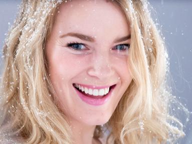 Nina Loeseth adalah atlet ski alpine putri Norwegia. (AFP/Joe Klamar)