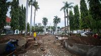 Renovasi Galeri Nasional ini terkait dengan program optimalisasi pemeliharaan dan perawatan aset negara, Jakarta, Rabu (12/11/2014). (Liputan6.com/Faizal Fanani)