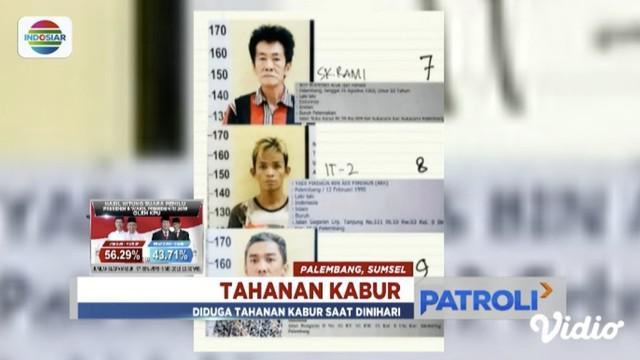 Sebanyak 30 tahanan narkoba di Polresta Palembang melarikan diri saat petugas jaga tengah tertidur.