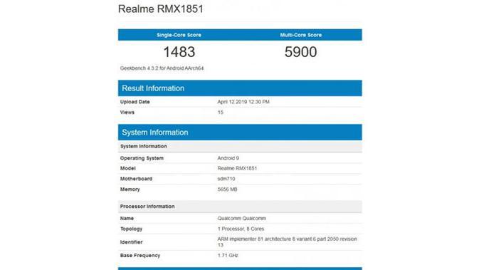 Spesifikasi Realme 3 Pro di Geekbench. (Doc: Geekbench)#source%3Dgooglier%2Ecom#https%3A%2F%2Fgooglier%2Ecom%2Fpage%2F2019_04_14%2F455741