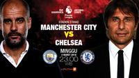 Manchester City vs Chelsea (Liputan6.com/Abdillah)