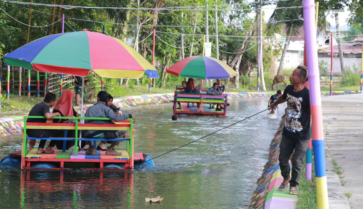 FOTO Warga Gorontalo Sulap Drainase Jadi Spot Wisata Air Demi ...