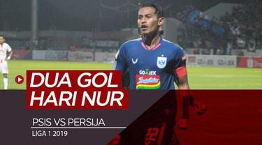 Berita video momen dua gol striker PSIS Semarang, Hari Nur Yulianto, saat mengalahkan Persija Jakarta 2-1 dalam lanjutan Shopee Liga 1 2019, Minggu (26/5/2019).