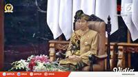Jokowi pakai baju adat Sasak saat sampaikan pidato kenegaraan. (dok. screenshot Vidio.com/@liputan6)