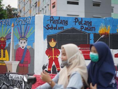 Mural Bertema Jakarta Hiasi Rusunawa KS Tubun