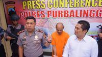 TS, tersangka pencabulan anak kandung ditangkap polisi Purbalingga. (Foto: Liputan6.com/Polres Purbalingga/Muhamad Ridlo)