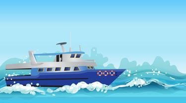 Ilustrasi kapal laut