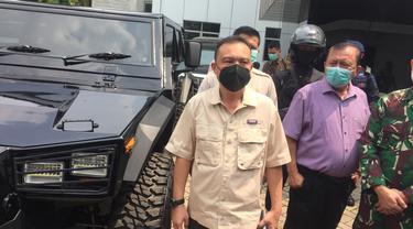 Wakil Ketua DPR RI Sufmi Dasco di RSDPAD Jakarta, Rabu (14/4/2021).
