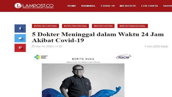 Gambar Tangkapan Layar Artikel dari Situs lampost.co