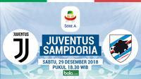 Jadwal Serie A 2018-2019 pekan ke-19, Juventus vs Sampdoria. (Bola.com/Dody Iryawan)