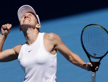 Kegembiraan Simona Halep Genggam Tiket Semifinal Australia Terbuka