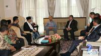 Calon Wakil Presiden Ma'ruf Amin bertemu dengan PM Malaysia Mahathir Mohamad (foto: istimewa)